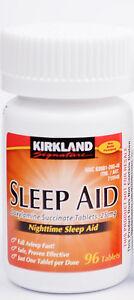 Kirkland-Sleep-Aid-Doxylamine-succinate-25-mg-96-Tablets-Brand-New-Sealed