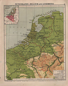 image is loading 1938 map netherlands belgium amp luxemburg amsterdam antwerp