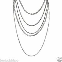 Qvc Steel By Design Eternal Set Of 5 Assorted Chain Necklace Stainless