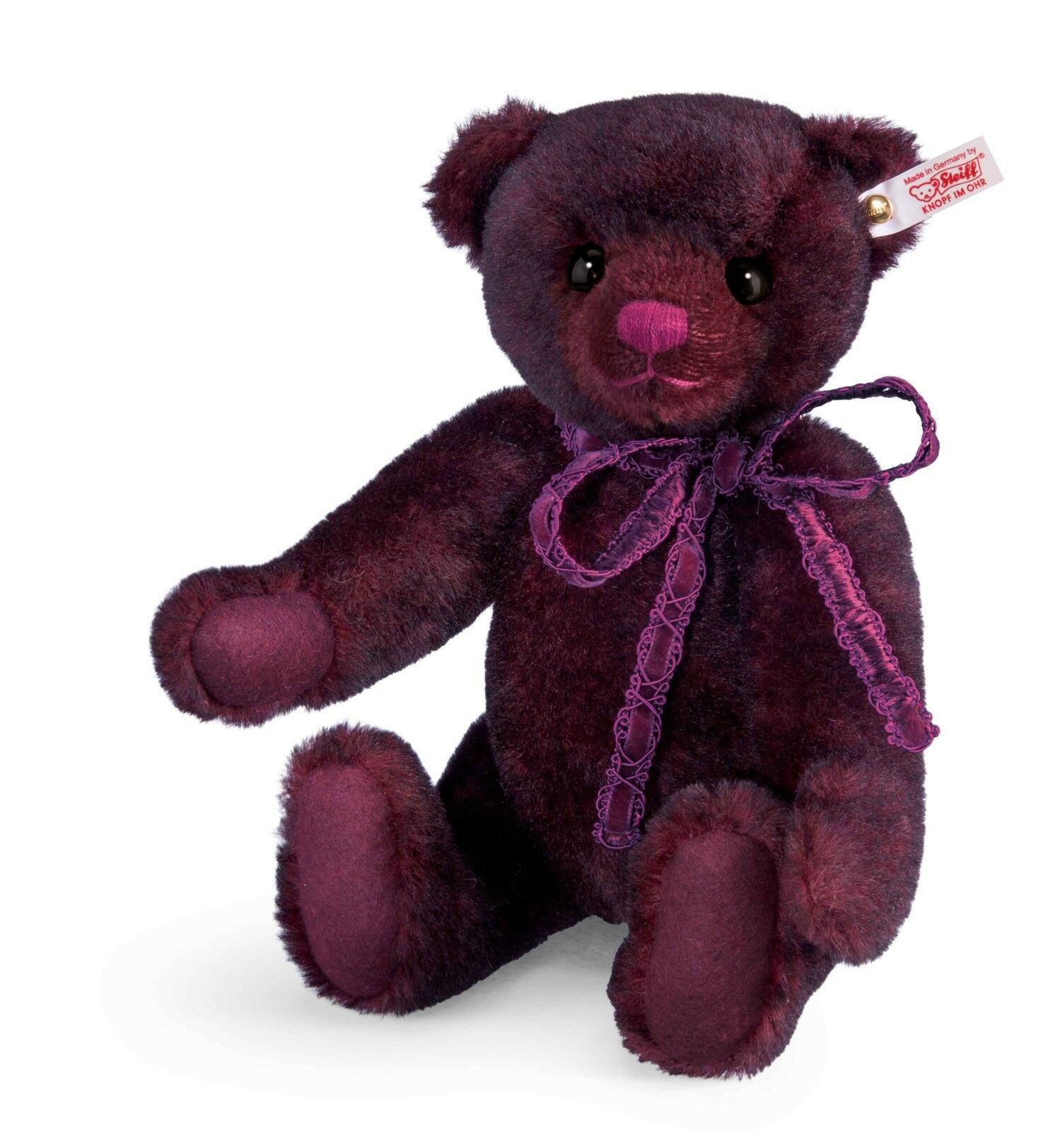 Steiff Anushka LTD EDITION BORDEAUX Colour Orso-box & certif-EAN 034800