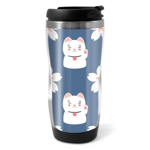 330 ml Café Thé Enfants Voiture Cadeau #8729 Cute Pretty Lucky Cat Tasse Voyage Ballon