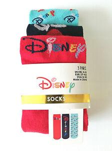 3-Paar-Damen-Socken-Disney-Fan-Logo-Struempfe-Micky-Maus-kurz-Bunt-37-42-Primark