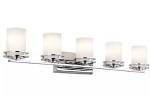 Details About Kichler Lighting Hendrik Collection 5 Light Chrome Bath Vanity