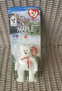 acb31830147 Maple The Bear-1996 McDonalds Ty Beanie Baby with rare errors 1993 ...