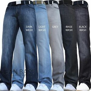 BNWT NEW MENS STRAIGHT LEG REGULAR FIT DARK BLUE DENIM JEANS ALL ...