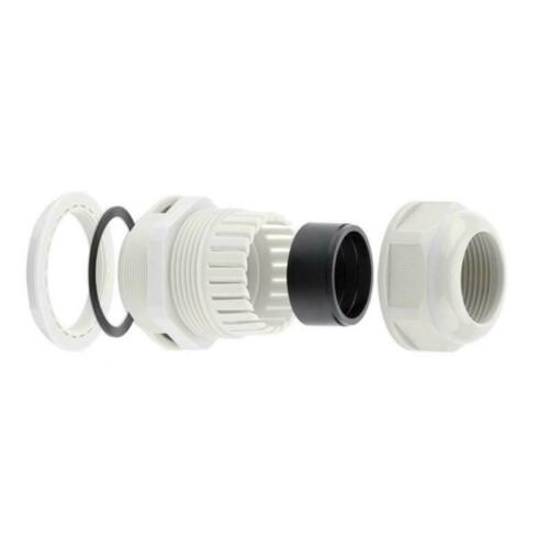 IP Junction Box 85x85x50 Nylon Cable Gland Connector CCTV LED Electric Outdoor