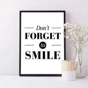 nordic minimalist motivational smile quotes canvas print wall art