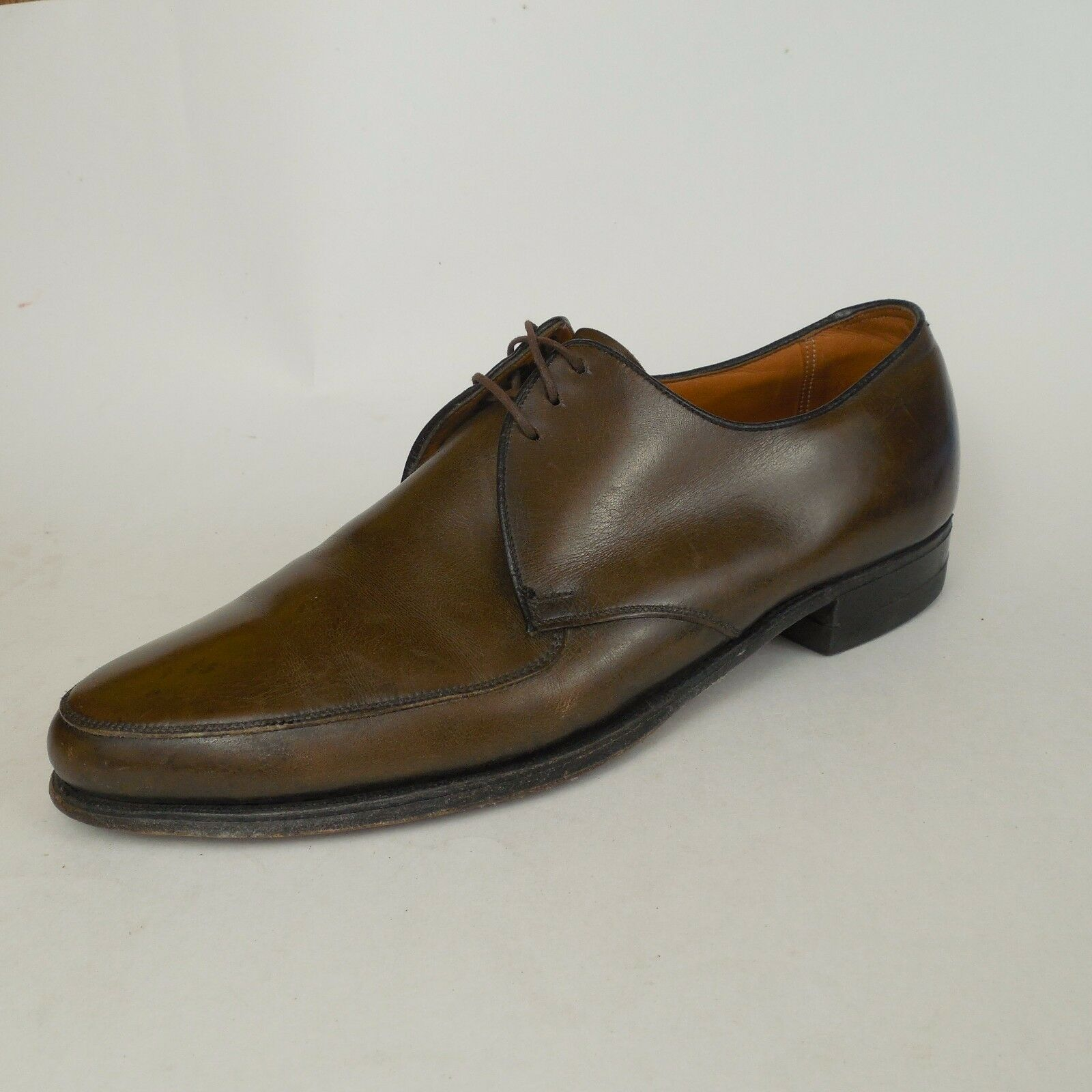 Florsheim Uomo Classic Oxford Dress Shoes Uomo SZ 9 D Med Moc Toe Brown Pelle