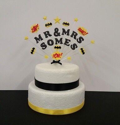 Nome Doppio O Fidanzamento Matrimonio Celebrazione Supereroe Batman Cake Topper.-mostra Il Titolo Originale Originale Al 100%
