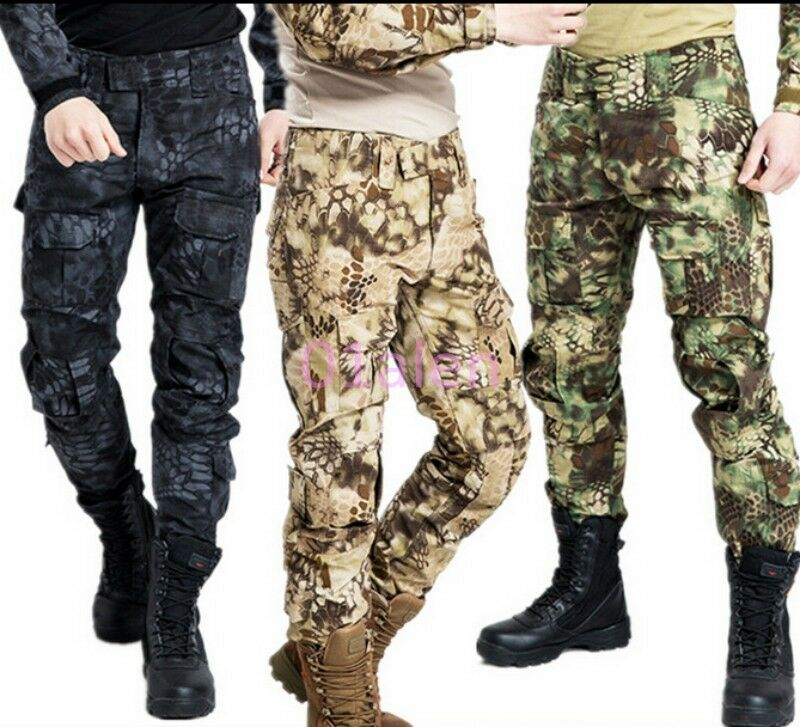 Mens Military Army Cargo Camo Tactical Long Stylish Trousers Outdoor Pants 28-38