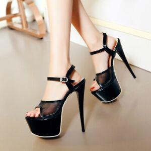 Women-Ankle-Strap-Peep-Toe-Stiletto-Platform-Sandals-High-Heel-Party-Shoes-Pumps