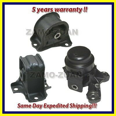 fits: 1992-1996 Honda Prelude 2.2L / 2.3L Motor Mount Set 3PCS. for Manual.