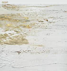 Large-Modern-Abstract-Painting-Contemporary-Original-Wall-Art-Gold-White-Canvas