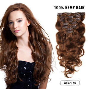 FEBAY100-Real-Clip-In-Hair-Extensions-Remy-Virgin-Body-Wave-7pcs-70g-Human-Hair