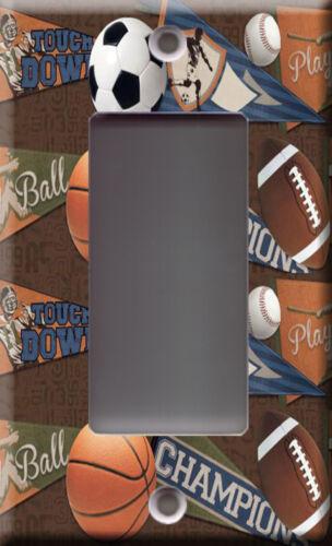 Light Switch Plate Cover Soccer baseball basket football Flags sports ball