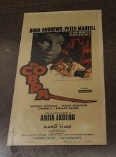 "COBRA - ORIGINAL - 1967 ITALIAN locandina FILM/MOVIE ""POSTER"" DANA ANDREWS"