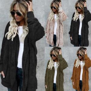 Fashion-Women-Cardigan-Fur-Jacket-Outerwear-Tops-Winter-Warm-Sweater-Fluffy-Coat