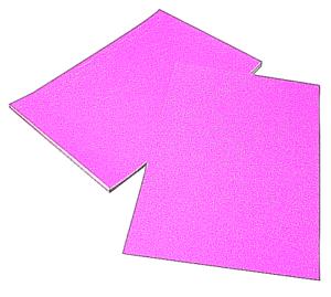 5 x Sheets A4 Pink Glitter Card Non Shedding