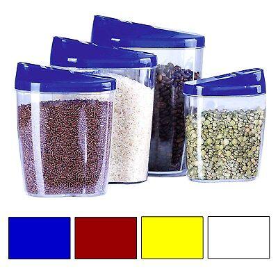 4 Stück Set 1L-1,5L Frischhaltedose Vorratsdose Vesperdose Aufbewahrungsbox Klic