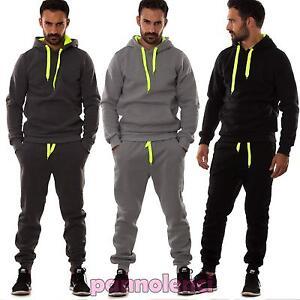 Men-Suit-Sweatshirt-Pants-Fitness-Gym-Hood-Sport-Pockets-NEW-s6603