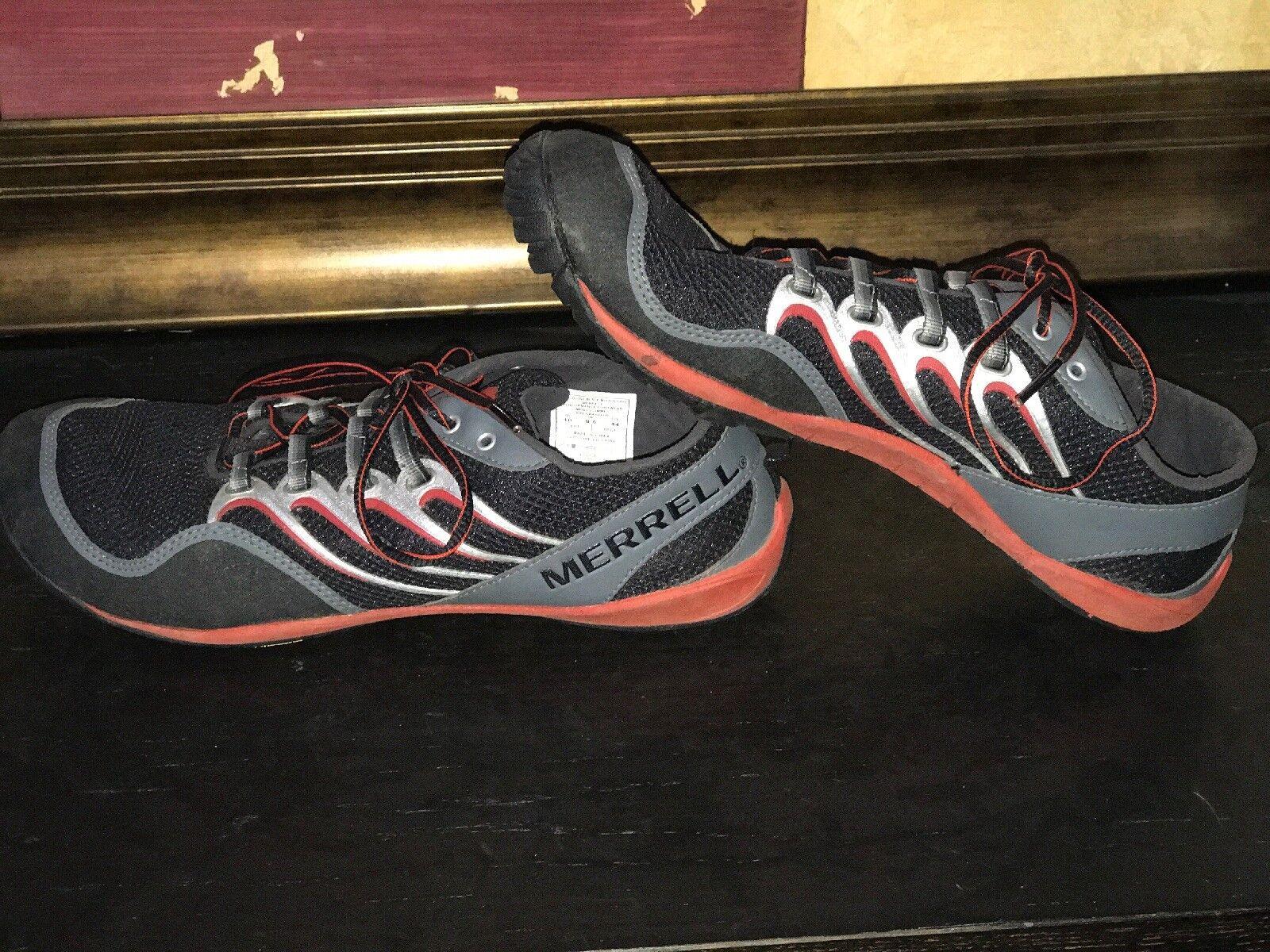MERRELL Uomo SZ 10 10 10 TRAIL GLOVE nero MOLTEN LAVA BAREFOOT RUNNING scarpe VIBRAM 7402b4