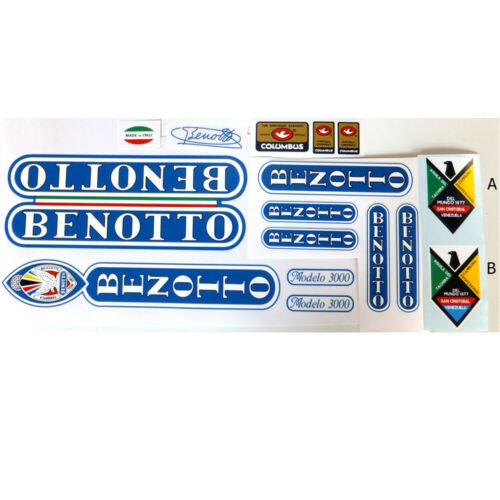 Benotto 1982 1983 s  vintage decal set for Campagnolo ride New!