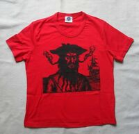 NEW RED PIRATE BLACKBEARD RED TOP S UK 10 PIRATE STEAMPUNK T-SHIRT COTTON