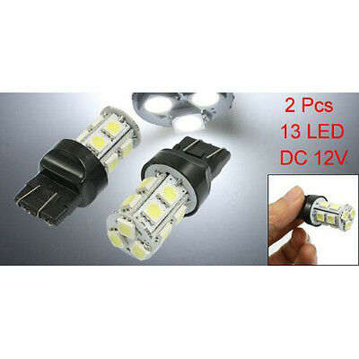 2 Pcs Car Truck T20 7443 White 13 SMD LED Tail Brake Light Lamp Bulb LW SZUS
