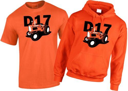 Allis Chalmers D17 Vintage Tractor Para Hombres Camiseta/Sudadera Con Capucha Naranja
