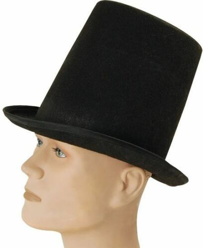 STOVEPIPE TOP HAT BUDGET 1920S , OLD ENGLISH FANCY DRESS HATS