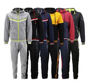Men-039-s-Casual-Slim-Fit-Running-Jogging-Gym-Sport-Sweat-Athletic-Tracksuit-Set