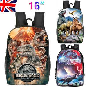 6de8d3af57 Image is loading Boys-Jurassic-World-School-Bag-Dinosaur-Park-Backpack-
