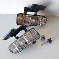 For Gmc 1999-2002 Sierra 2000-2004 Yukon Clear Fog Lights With Bulbs Left Right