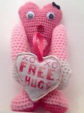 Crochet Pink Free Hugs Heart Amigurumi Doll