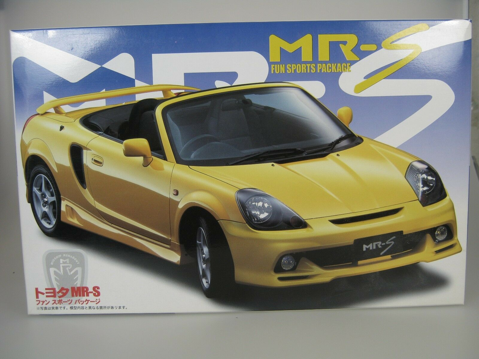 Toyota MR-S MRS avec FUN SPORTS PAQUET JAUNE KIT DE MONTAGE 1 24 FUJIMI id-86
