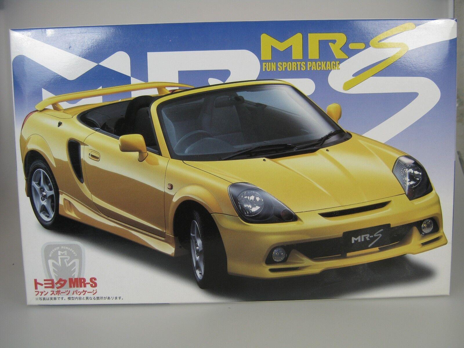 Toyota MR-S Mrs con Diverdeimento Sports Pacchetto Giallo Kit di Costruzione 1 24