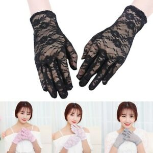 Hot-Elegant-Women-Ladies-Short-Lace-Gloves-Fancy-Costume-Wedding-Prom-Driving