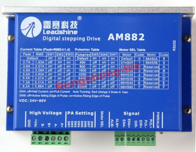 Leadshine AM882 Digital Stepper motor Drive 80VDC 0.1A - 8.2A protect function