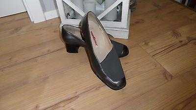 Neu MEDICUS Kim Pumps Slipper Schuhe Leder grau silber Gr. 4 G