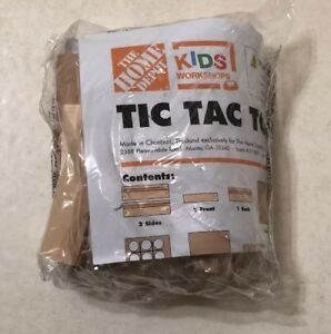 Pin And Sticker NEW and SEALED Home Depot Kids Workshop Field Goal  Game