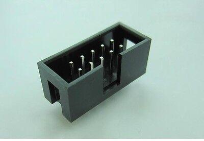 100pcs 2.54mm Pitch Dual Row 5 x 2 ISP Download JTAG I/O Socket DIY DC3-10P New