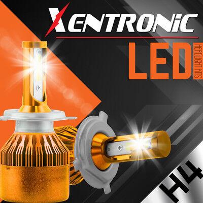 H4 LED Hi//LO BEAM Headlight Bulbs 252W 25200LM 2X 6000K Cree White