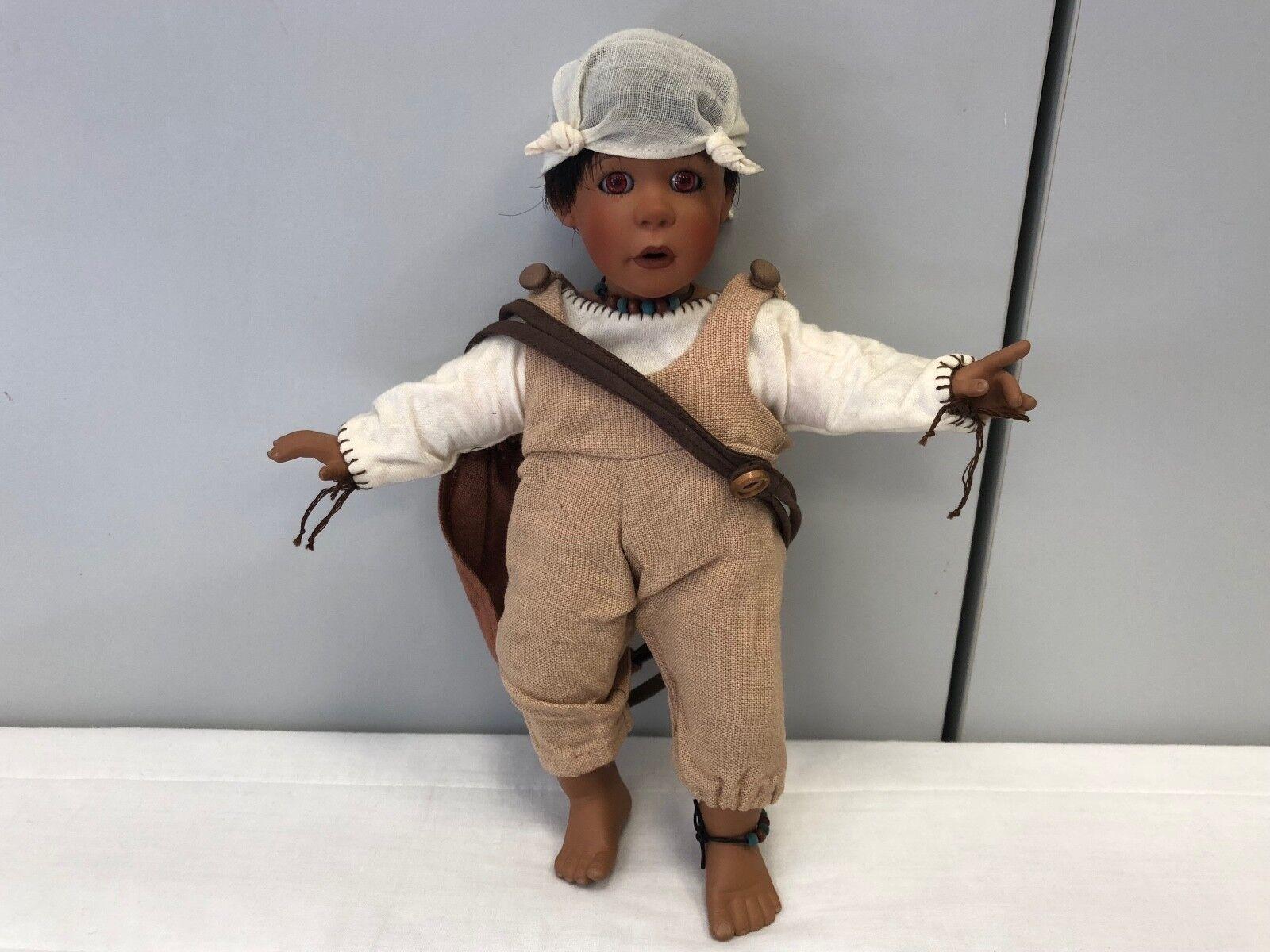 Künstlerpuppe Porzellan Puppe 26 cm. Top Zustand