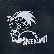 Funny Cartoon Pee On Speedlimit Finger Up Car Decal Vinyl Sticker Bumper Panel
