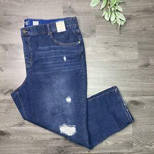 Terra & Sky Womens Plus Boyfriend Relaxed Comfort Waist Jeans Size 26W New
