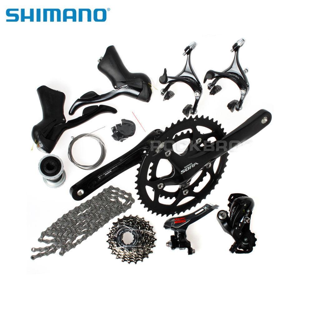 Shimano Nero Strada Bicicletta gruppo di gruppo, Sora 3500 9Speed