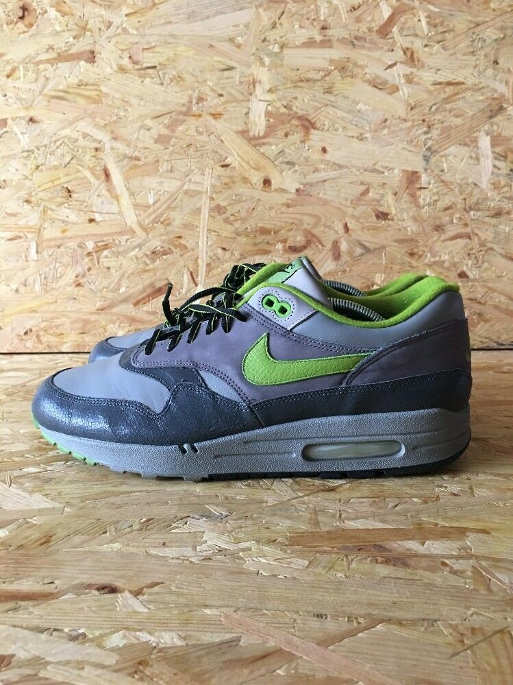 Nike air max 1 huf sf lo skyline di antracite / dk apple-med green sz quake