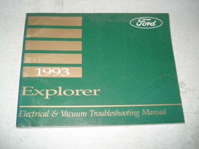 1993 Ford Explorer Wiring Diagrams Service Manual Shop Book Electrical  U0026 Vacuum
