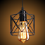 thumbnail 5 - Industrial-Vintage-Metal-Cage-Ceiling-Pendant-Light-Holder-Lamp-Shade-Fixtures