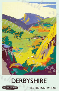 Vintage British Rail Wye Valley Railway Poster Print A3//A4